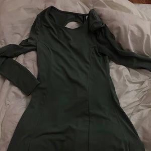 Green/Aqua H&M Long Sleeve Dress